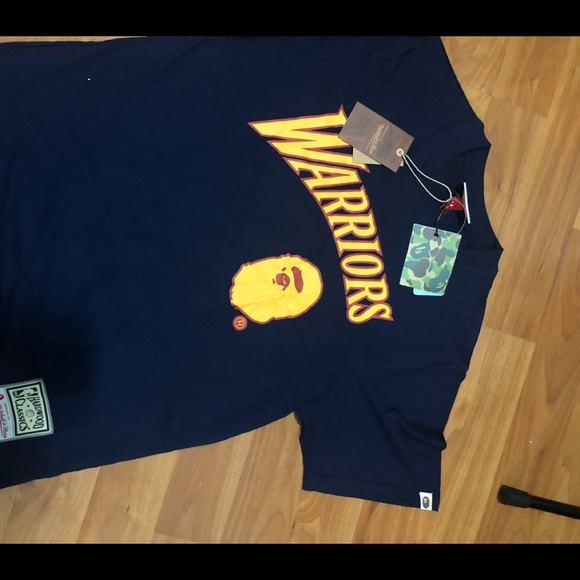check out 56434 fb0f1 Bape Tee Golden State Warriors Mitchell And Ness NWT